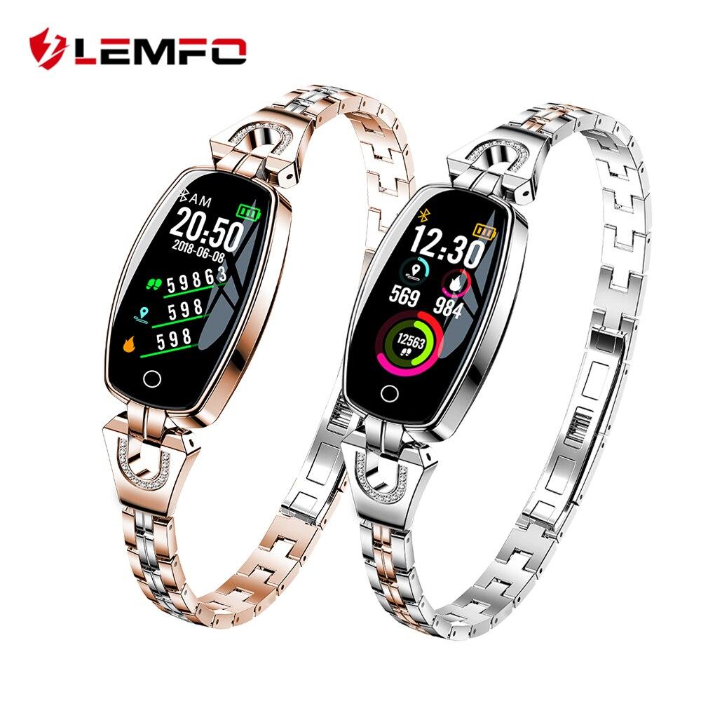 LEMFO H8 Inteligente Assista Mulheres 2018 À Prova D' Água de Monitoramento da Frequência Cardíaca Do Bluetooth Para O Android IOS Aptidão Pulseira Smartwatch