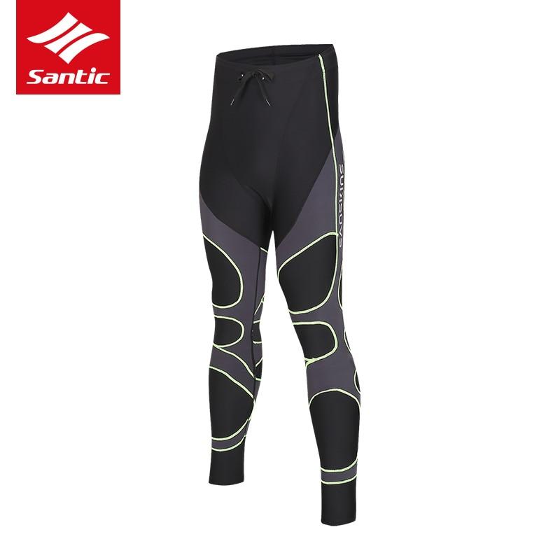 ФОТО 2017 SANTIC Cycling Running Pants Spring Autumn Compression Long MTB Road Bike Pants Fitness Running Tights Men Cuissard Velo
