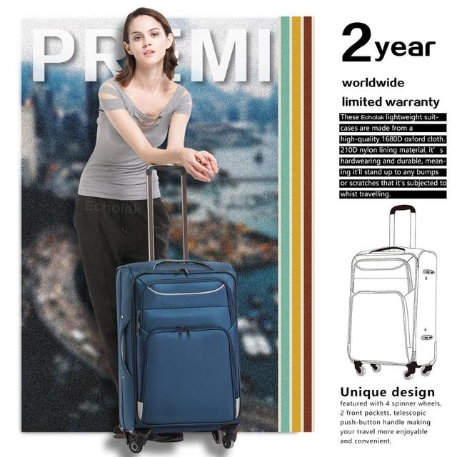 3 Piece Set Suitcase Spinner Softshell lightweight Lightweight Carry on Spinner Wheel Travel Vacation Luggage 20 24 28inch