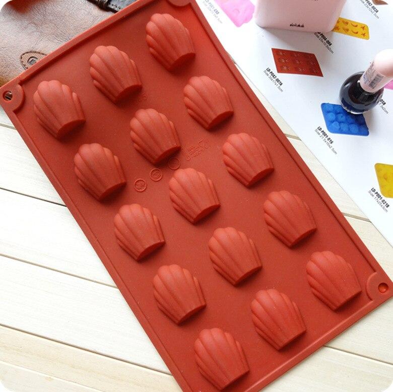 Alemanha marca de silicone madeleine cookie molde 100% platina silicone casca biscoitos bolo bakeware moldes + d610