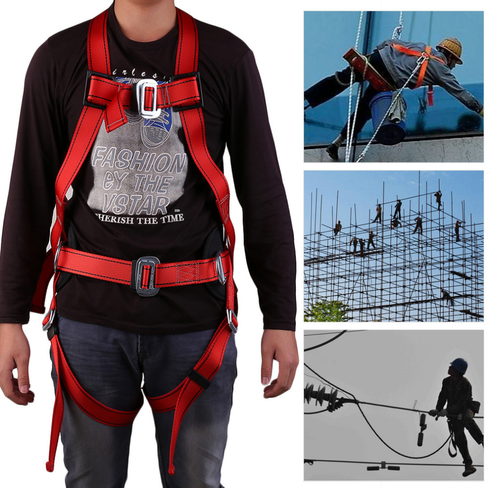 Rock Climbing Mountaineering Belt There Point Formula Rock Climbing Downhill Harness Rappel Rescue Safety Belt Body Safety Belt