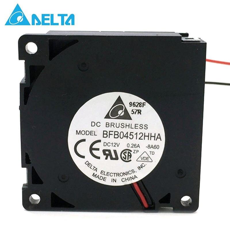 Original Delta BFB04512HHA 45*45*10mm DC12V 0.26A Turbo ventilador