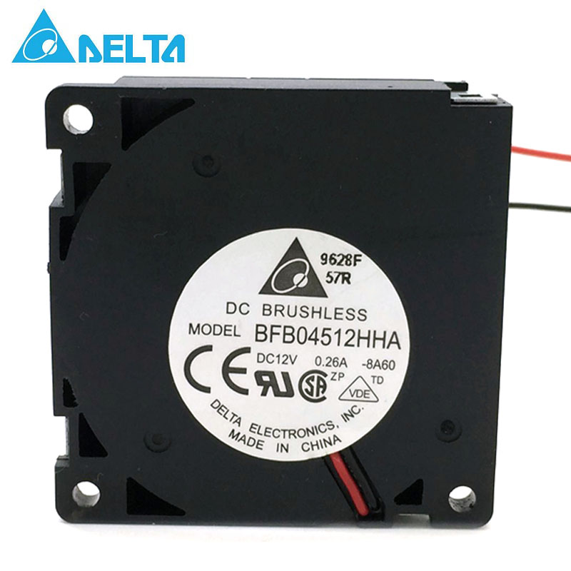 Original For Delta BFB04512HHA 45 * 45 * 10mm DC12V 0.26A Turbo BLOWER Cooling Fan