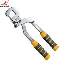 Rdeer 더블 핸들 전문 트림-스틸 용골 고정 장치 펜치 0.4mm-0.8mm 용골 고정 도구 펀칭 펜치 내구성 도구