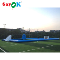 20x10m, 25x12m Inflatable Football Field Inflatable Soap Football Field Game Football Pitch PVC commercial Soccer Field