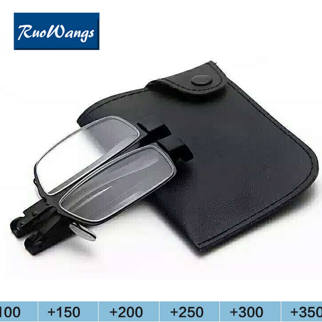 Presbyopic Eyeglasses Mini Folding Magnetic Slim Reading Glasses Foldable Diopter Glasses 1 0 1 5 2