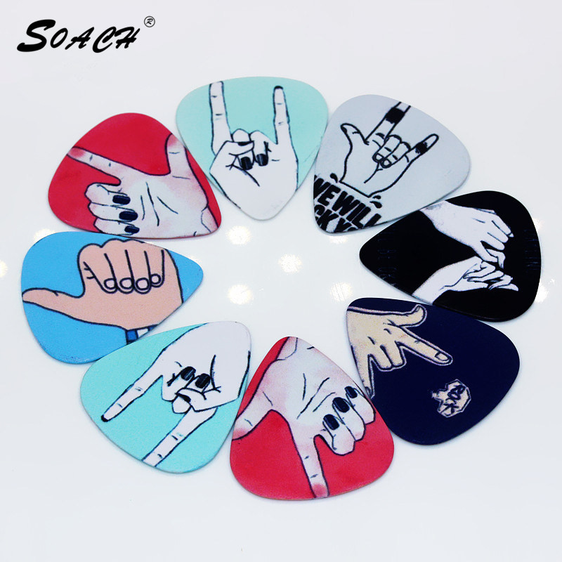 SOACH 10pcs/Lot 0.71mm  Thickness New Pack Cute Cartoon Guitar Picks Guitar Strap Guitar Parts & Ukulele Accessories
