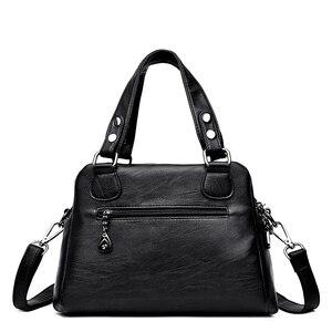 Image 4 - Bolsa de couro feminina bolsas de luxo bolsas femininas designer tote senhoras sacos de ombro marca mensageiro saco sac principal femme
