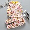 2-5 T niños ropa interior para niños muchachas del invierno que arropan el sistema Valor caliente calzoncillos largos niña niño otoño Bebé pijama de espesor