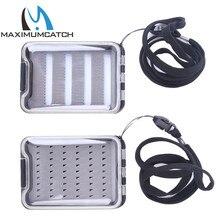 Fly-Fishing-Box Foam-Insert Maximumcatch Plastic Waterproof Double-Side Slit Clear-Lid