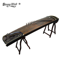 Strong Wind 21 Strings Guzheng China Classical Music Instrument Professional With Full Accessories Pattern Flowers High Quality