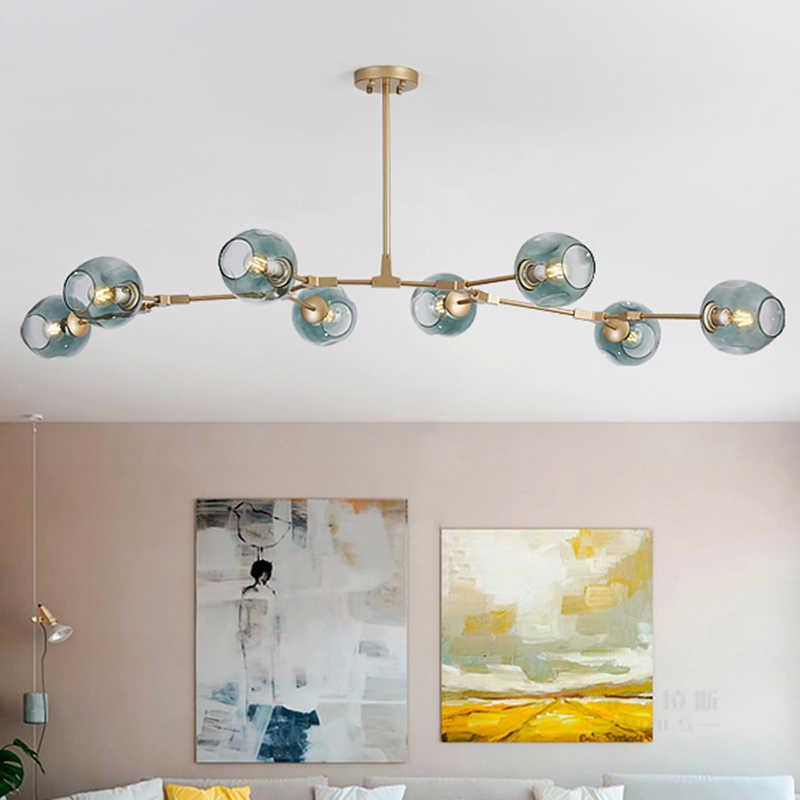 Винтажный Лофт промышленный подвесной светильник черный золотой подвесной светильник лестница столовая, стекло абажур светильник на подтяжках нордический подвесной светильник
