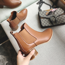INS hot Women Chelsea boots cow leather ankle Boots 22-26 cm length European and American style ladies boots female+shoes vankaring new shoes 2018 spring autumn european and american style fashion women pu ankle boots for women chelsea date boots
