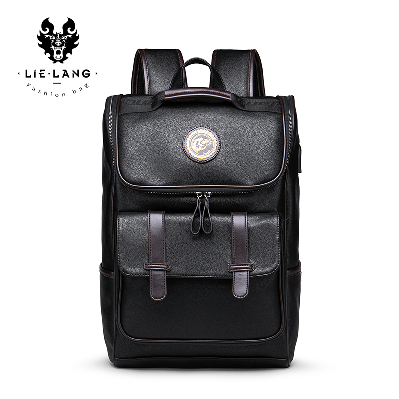 LIELANG Backpack Men PU Leather School Backpack Bag For College Simple Design Men Casual Daypacks Travel Backpacks Anti Thief seiko настенные часы seiko qxc230sn коллекция интерьерные часы