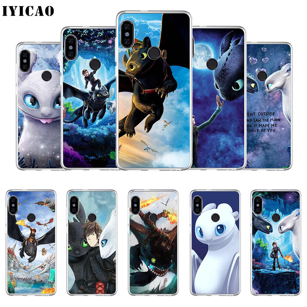 IYICAO How to Train Your Dragon Soft Silicone Phone Case for Xiaomi Redmi 4A 5A 6A Note 7 6 5 Pro Plus Redmi 4X 5A Prime