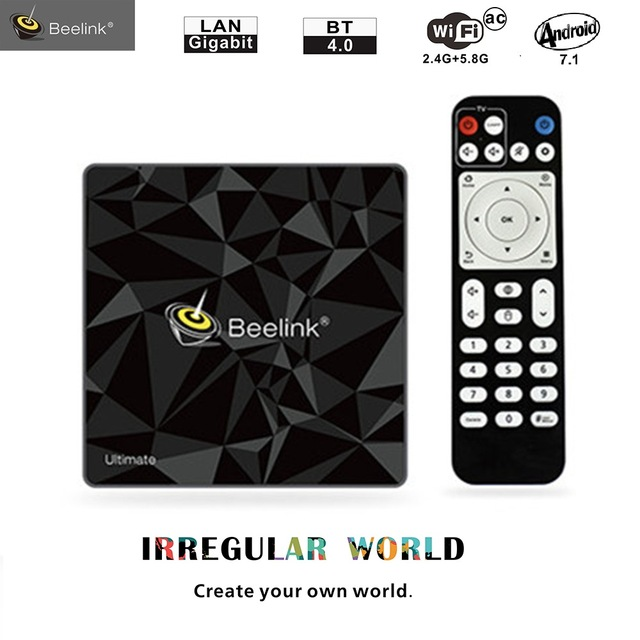 Beelink GT1 Ultimate Smart TV Box Android 7.1 3G 32G Amlogic S912 Octa Core 4K HD TV BoX 5G WiFi Smart Set Top Box Media Player 10pcs vontar x92 3gb 32gb android 7 1 smart tv box amlogic s912 octa core cpu 2 4g 5g 4k h 265 set top box smart tv box