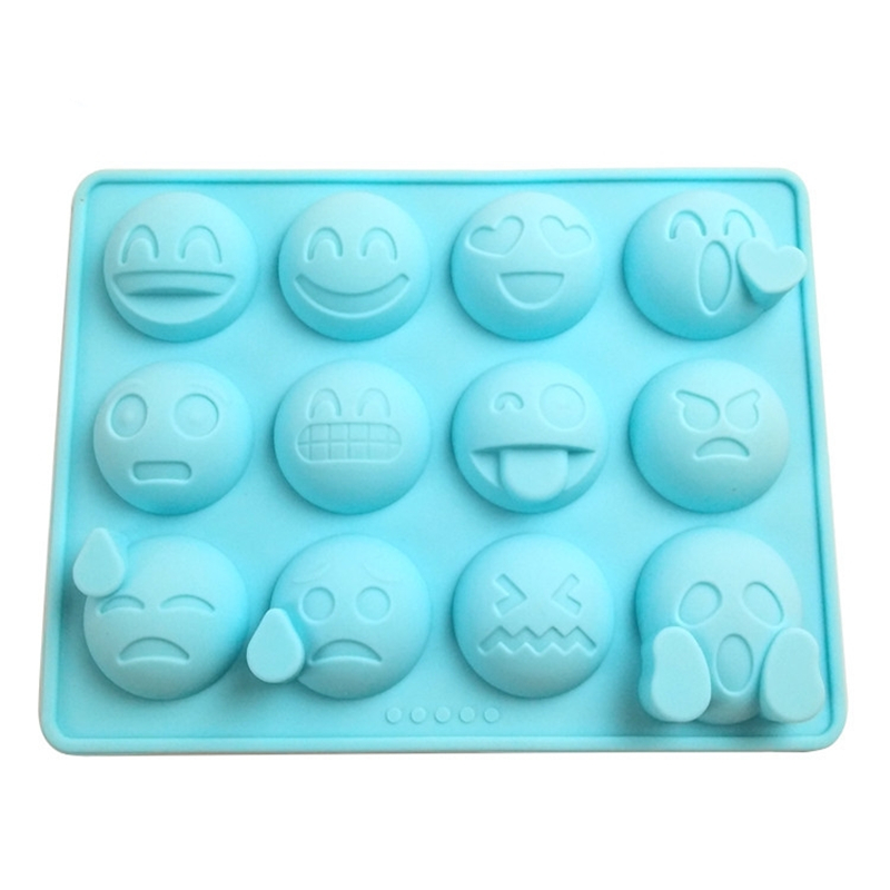 Creative 12 Even Expression Supply Silicone Mold Candy Chocolate Ice Grid Mold DIY Baking Mold Cartoon Model Food Grade Silicone