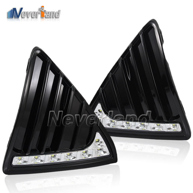 One Set 12V DRL LED Car Light DRL Daytime Running Lights For Ford Focus 2012 2013 with Fog Light Car Styling Free shipping D20