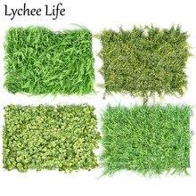 Lychee Life Artificial Grass Mats Plants 60x40cm Plastic Plant Lawn Background Wall Modern Home Garden Floor Decoration Supplies