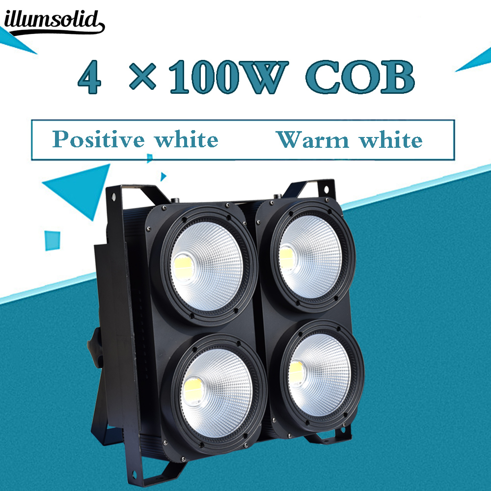 4eyes Par Led Light 4x100W Blinder Professional Combination Positive White/Warm White