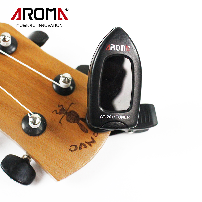 buy aroma portable at 201 clip on electric guitar tuner universal for chromatic. Black Bedroom Furniture Sets. Home Design Ideas