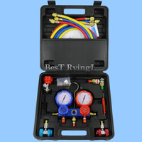 YY Air Conditioning Refrigerant Pressure Gauge Group R12 R22 R134a R404a 410a Car Air Conditioning Repair Fluorine Filling Tool
