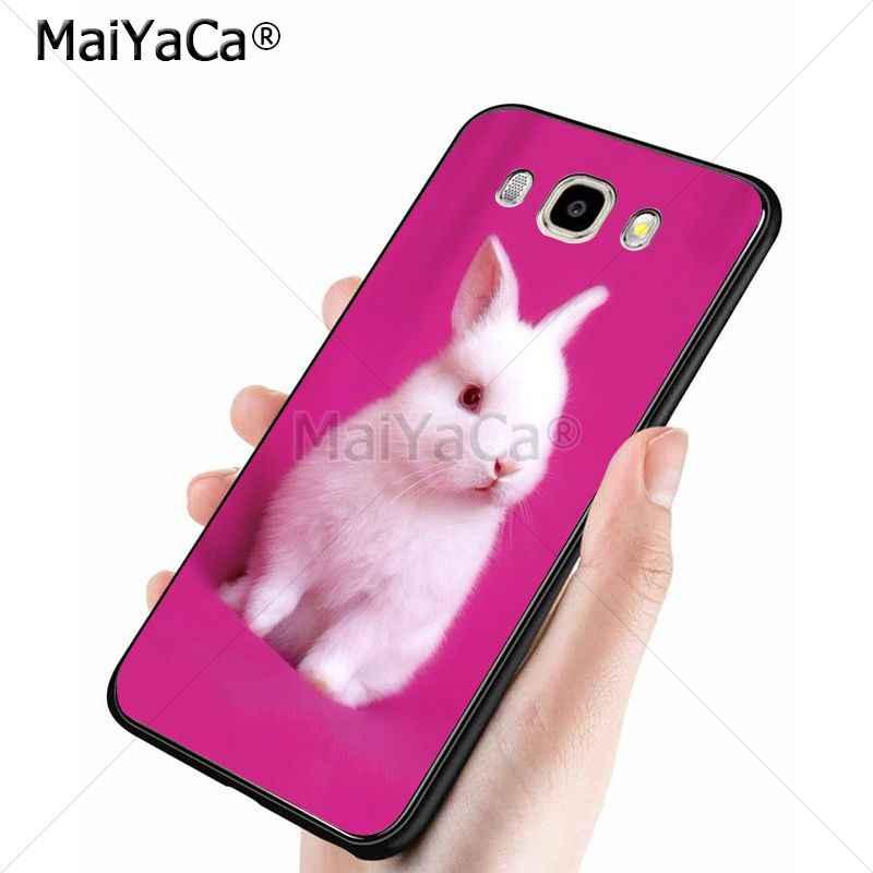 MaiYaCa Dễ Thương đáng yêu Thỏ Trắng động vật silicone mềm tpu Điện Thoại Di Động trường hợp đối với samsung j6 j7 note8 note9 s10 j4 trường hợp coque
