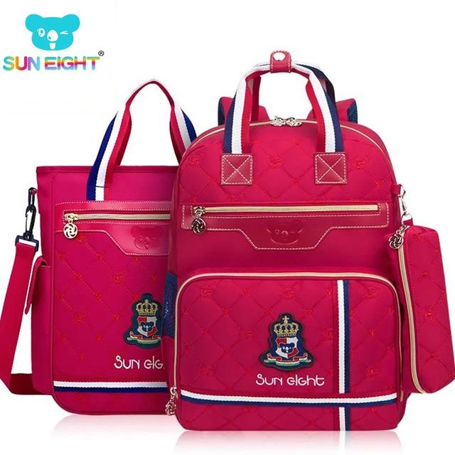 b3ce8ee839bf Ортопедические школьные сумки для девочки Водонепроницаемый рюкзак для детей  школьная сумка для детей комплект из 3