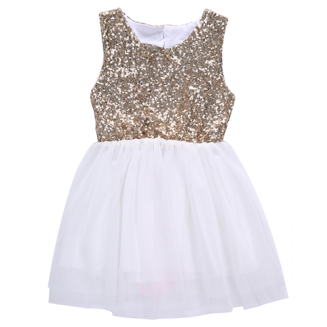 Girls Sequins Dress, Baby Girl Flower Dresses,Bow Backless Party ...