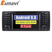 Eunavi Octa core Android 9,0 1 Din 4G Оперативная память 32G Встроенная память автомобильный DVD плеер с gps навигатором Радио стерео для BMW E39 1996 2003 E53 X5 с Wi Fi, bt