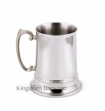 500ml Tankard Stein Double Wall Stainless Steel Beer Mug Cocktail Breakfast Milk Mugs with Handgrip Coffee Cup Bar Tool(China)