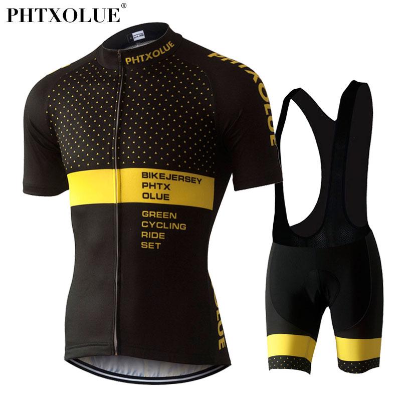 Prix pour Phtxolue cyclisme vêtements vélo fixe vélo vêtements/respirant les hommes de vélos porter printemps été à manches courtes vélo maillots ensembles