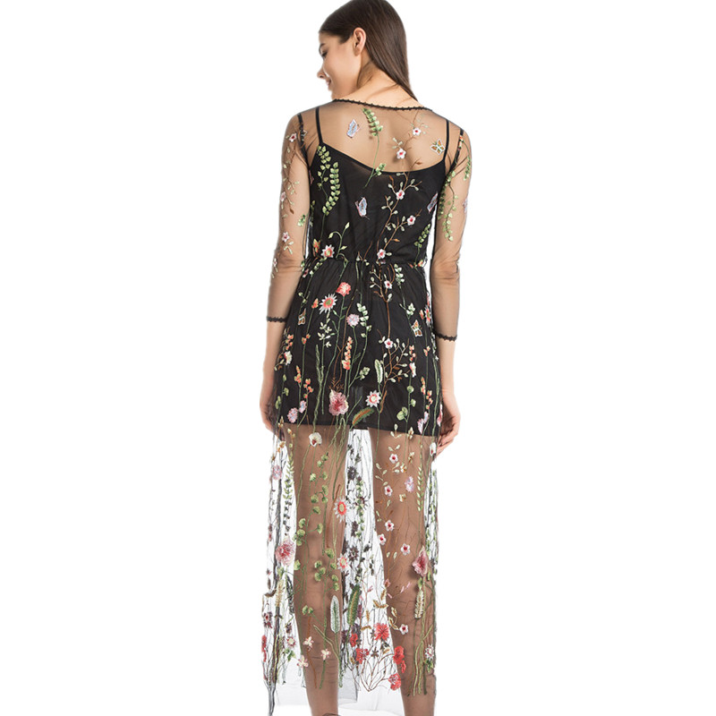 54630a5808121 Lining+Dress Newest Fashion Mesh Flower Floral Embroidery Runway ...