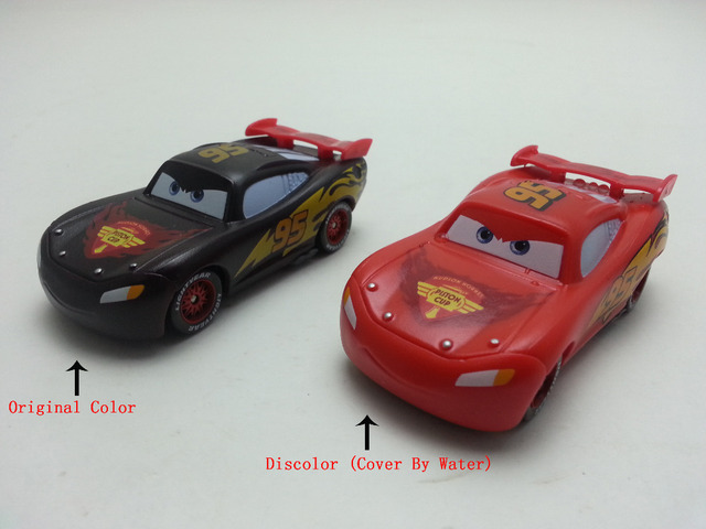 084786a11b2 Disney Pixar Cars Color Changers Lightning McQueen Black- Red Plastic Toy  Car 1 55 Loose Brand New   Free Shipping