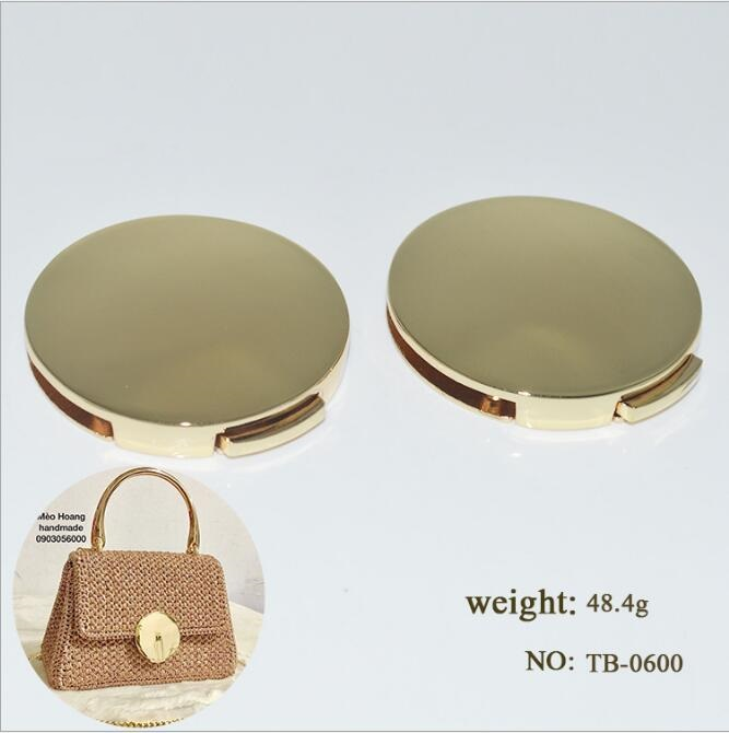 (10pcs/1lot) DIY High-grade Alloy Luggage Bag Glossy Round Body Button Lock Hardware Accessories