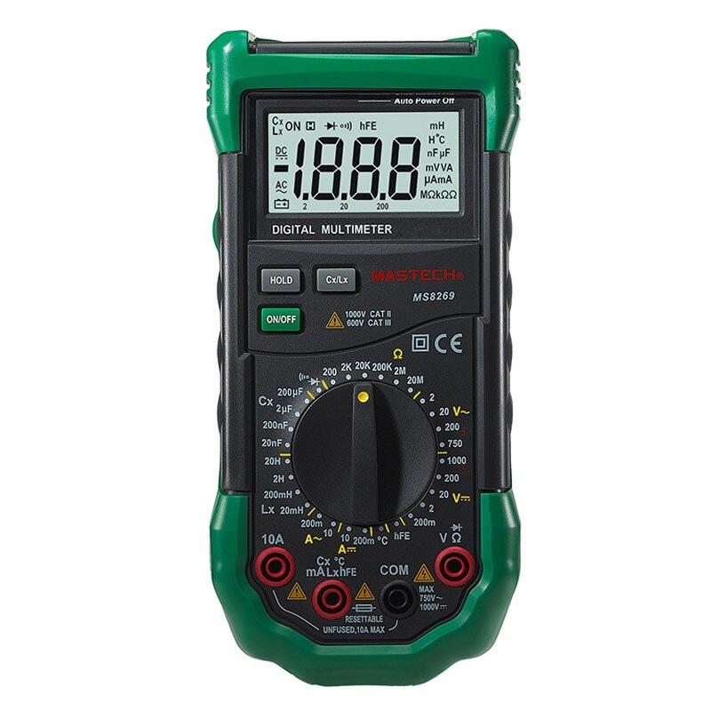 Mastech brand MS8269 3 1/2 Digital Multimeter LCR Meter AC/DC Voltage Current Resistance Capacitance Temperature Inductance Test  цены