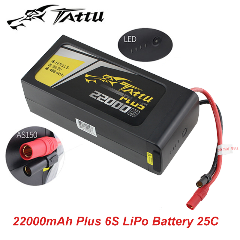 Tattu 6S 22.2V LiPo Smart Battery 22000mAh Plus 25C with AS150+XT150 plug for UAV Drone Integrated with Smart BMS image