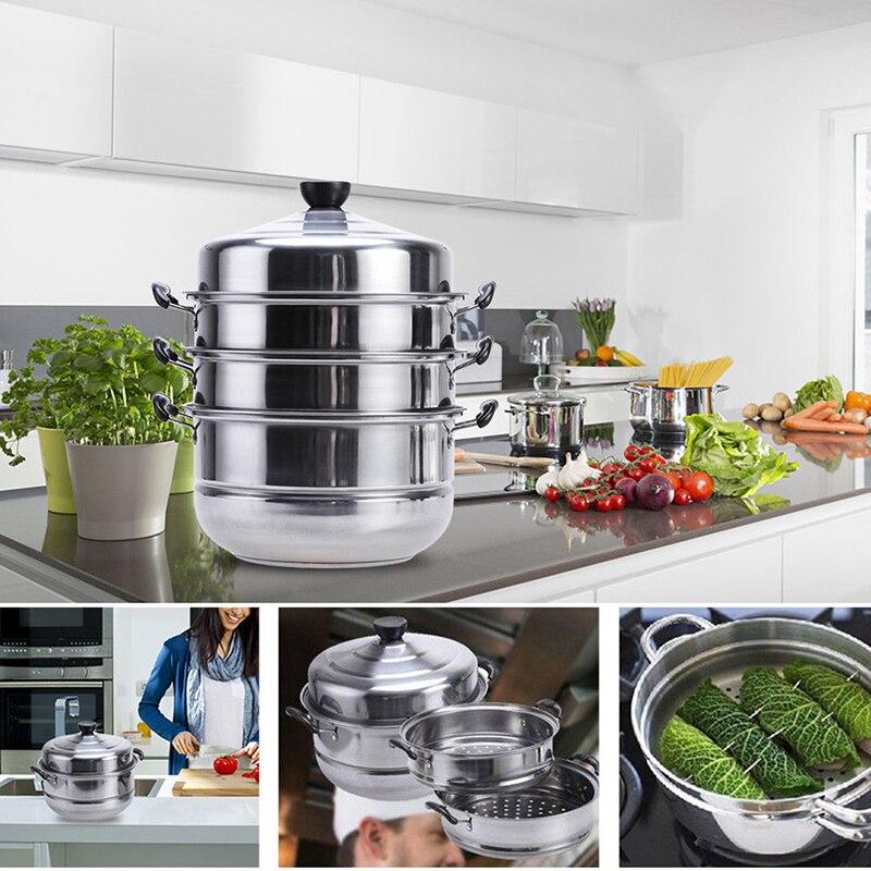 Cuiseur vapeur inox Induction vapeur Dim Sum faitout vapeur ustensiles de cuisine pour cuisine maison outils de cuisson