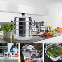 Stainless Steel Steamer Induction Steam Dim Sum Steaming Pot Cookware For Home Kitchen Cooking Tools