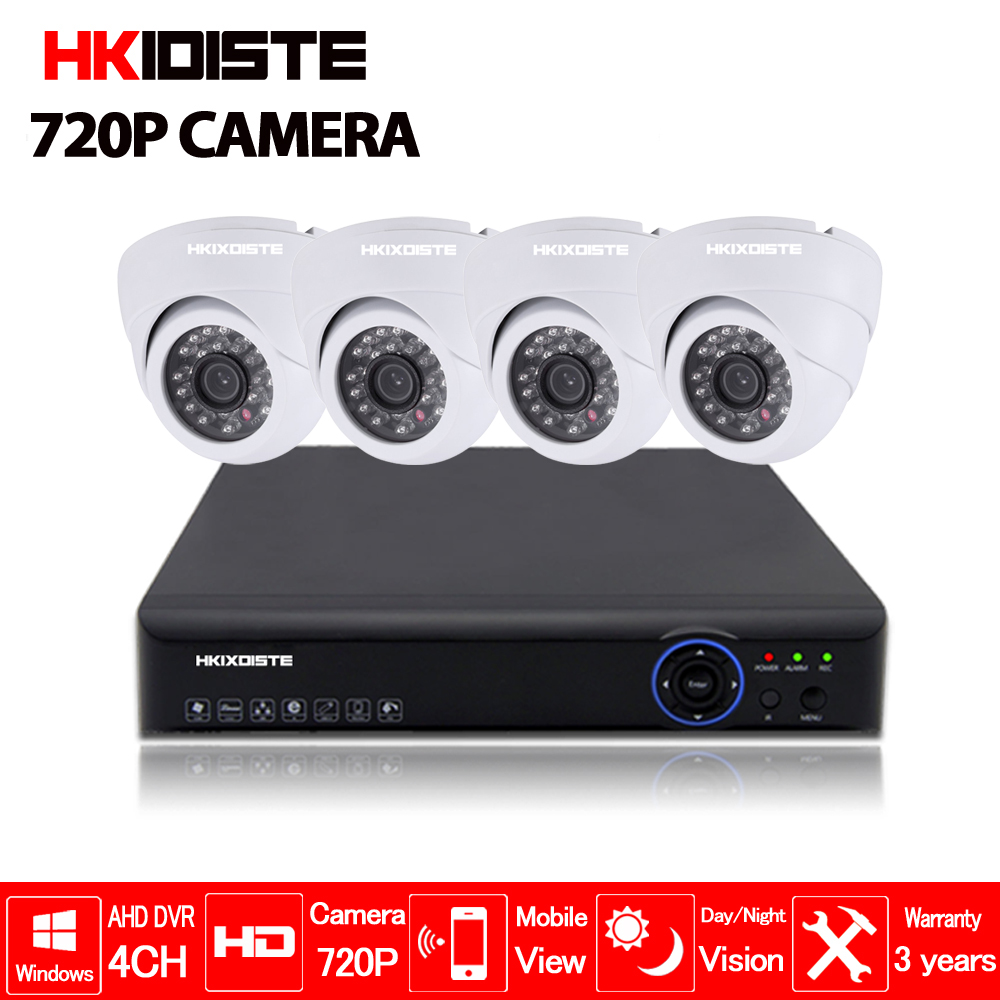 4CH 1080N HDMI DVR 720P HD outdoor Security Camera System 4 Channel CCTV Surveillance DVR Kit AHD Camera Set ahd camera system
