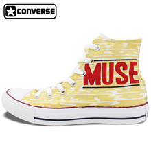 Converse All Star Men Women Shoes MUSE Design Hand Painted Shoes High Top Sneakers Man Woman Birthday Gifts