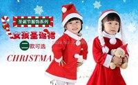 Girl Velvet 3 Piece Christmas Set Child Christmas Dress Cap Belt 3 13 Free Shipping Red