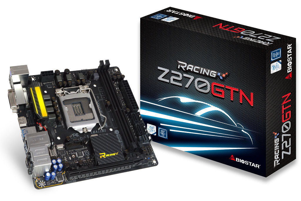 Full new,BIOSTAR Z270GTN Game Racing Motherboard 1151 Z270 MINI ITX Motherboard DDR4 Support I3 I5 I7 7500 7700K цена
