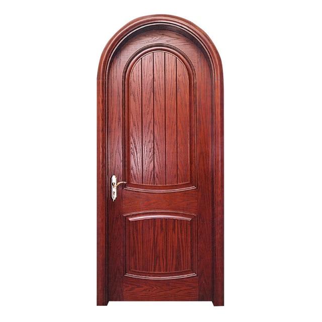 OEM 210*90cm Custom European Interior Round Head Door Wood Composite Door  Paint Door Suit