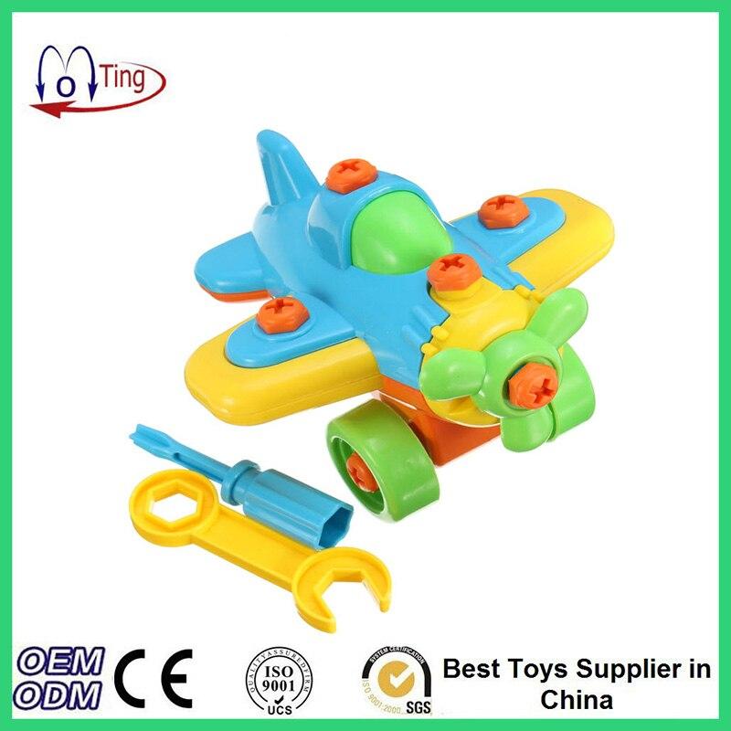 Newest DIY Disassembling Small Airplane Building Blocks Baby Assembled Model Educational Children Toys valtery постельное белье mandy 1 5 спал