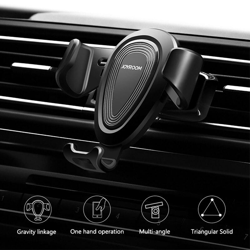Joyroom Универсальный мобильный телефон кузова авто-замок вентиляционное отверстие тяжести держатель кронштейн для iPhone 6 7 8 x samsung S8