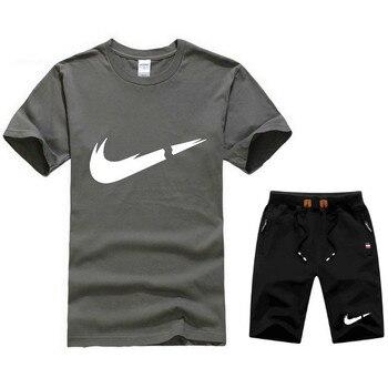 a19448e2b Venta caliente del verano conjunto de los hombres T camisa + pantalones  cortos de dos piezas Casual ...