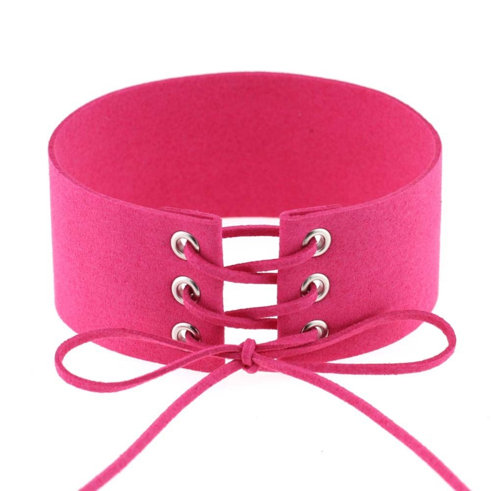 HTB15qxKLpXXXXX6XpXXq6xXFXXXn Gothic BDSM Black Velvet Lace Up Choker Collar Necklace For Women - 11 Colors