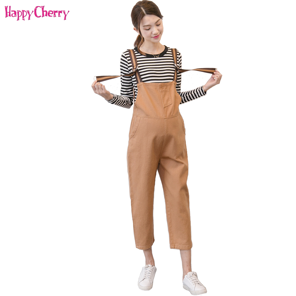 Cotton Maternity Overalls Pants For Pregnancy Clothing Pregnant Women Mothers Suspenders Jumpsuit Pants Roupa Gestante Trousers