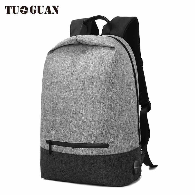 TUGUAN Waterproof Anti Theft Men Laptop Backpack School Bags Casual Travel Large Capacity USB Charge Male Back pack Bagpack Boys arctic hunter design backpacks men 15 6inch laptop anti theft backpack waterproof bag casual business travel school back pack